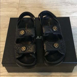 Authentic CHANEL sandals.